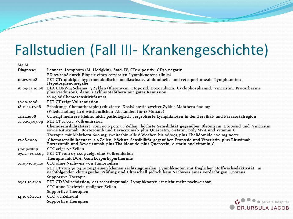 Fallstudien (Fall III- Krankengeschichte)