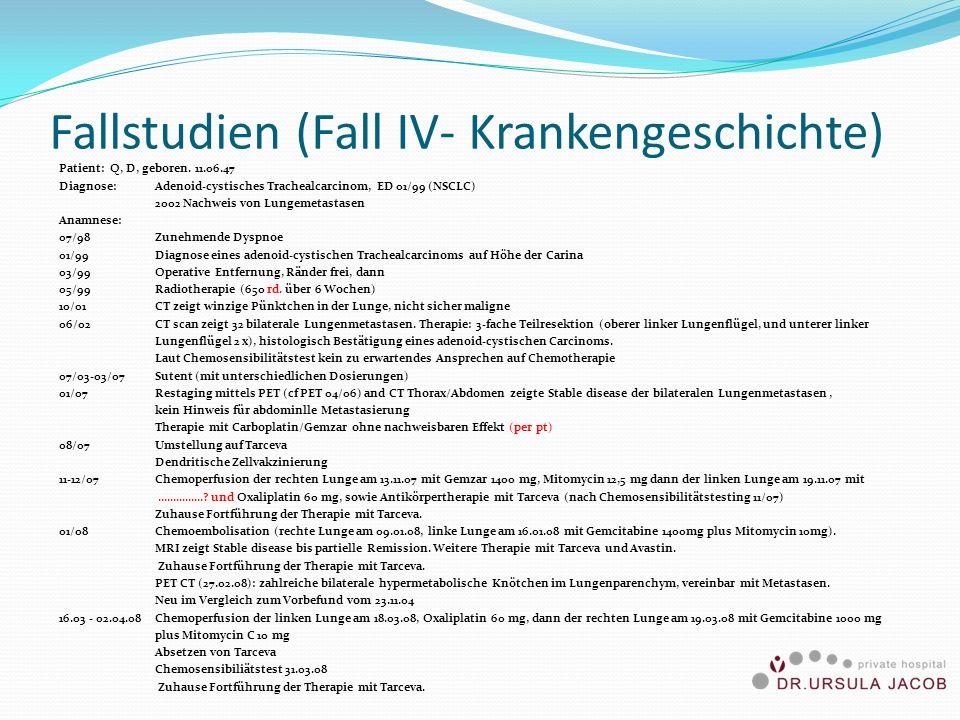 Fallstudien (Fall IV- Krankengeschichte)
