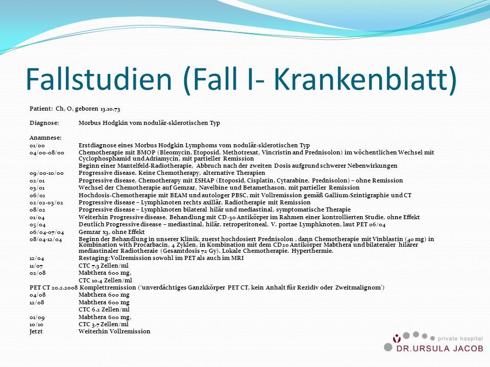 Fallstudien (Fall I- Krankenblatt)