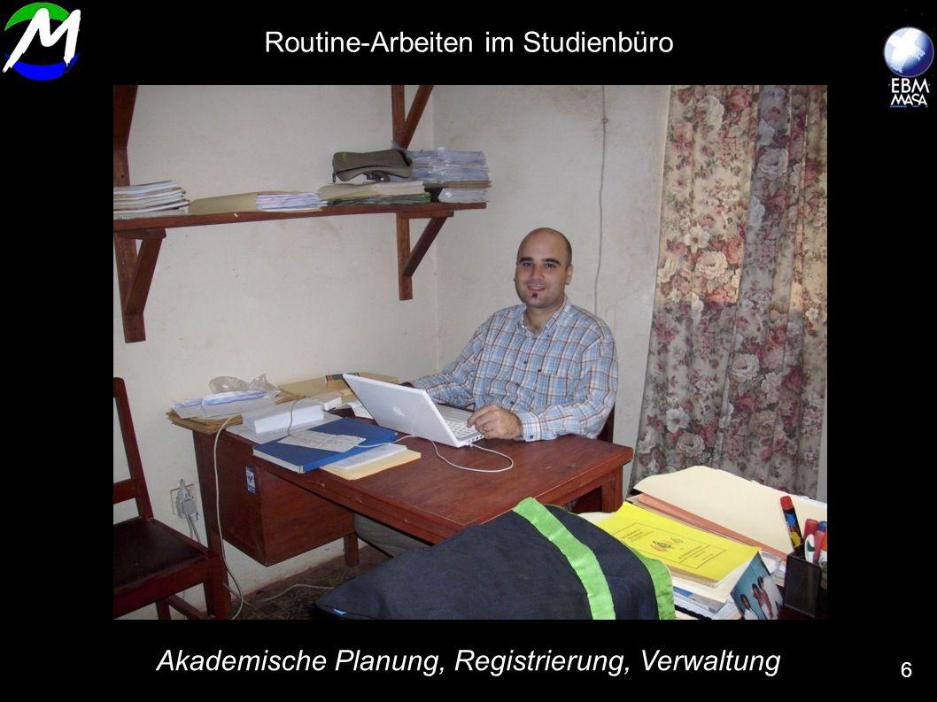 Routine-Arbeiten im Studienbüro