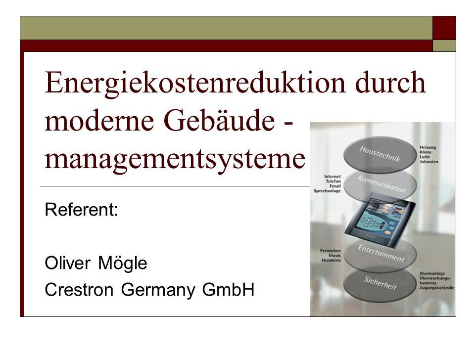 Energiekostenreduktion durch moderne Gebäude -managementsysteme