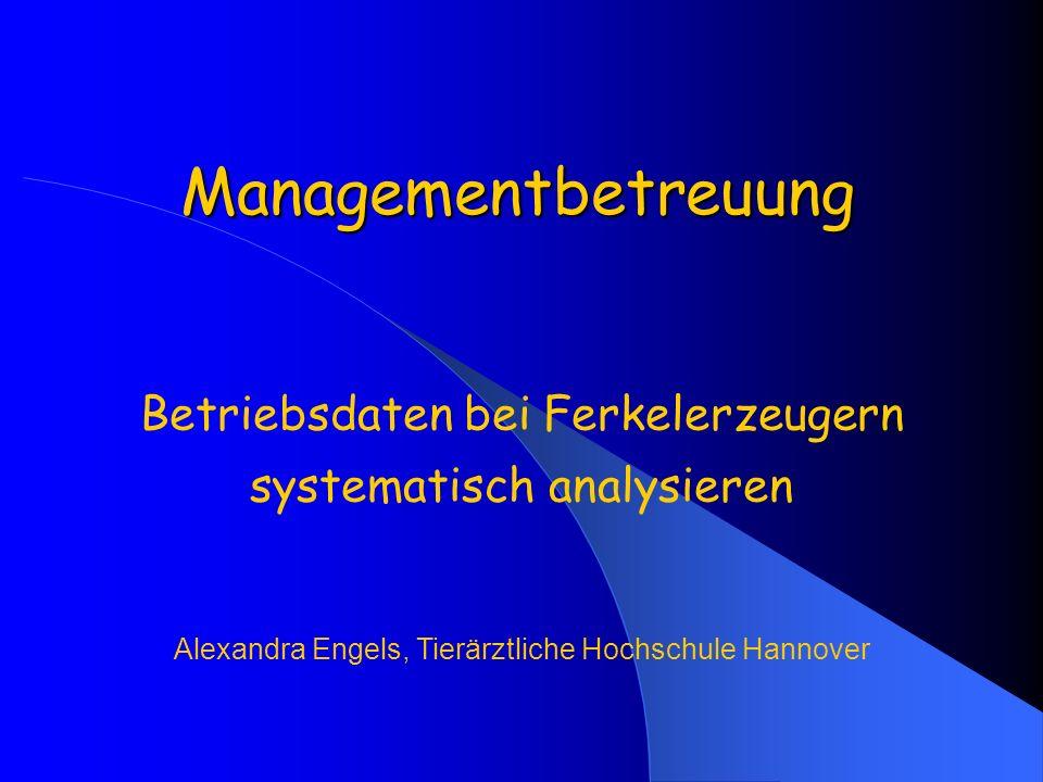 Betriebsdaten bei Ferkelerzeugern systematisch analysieren