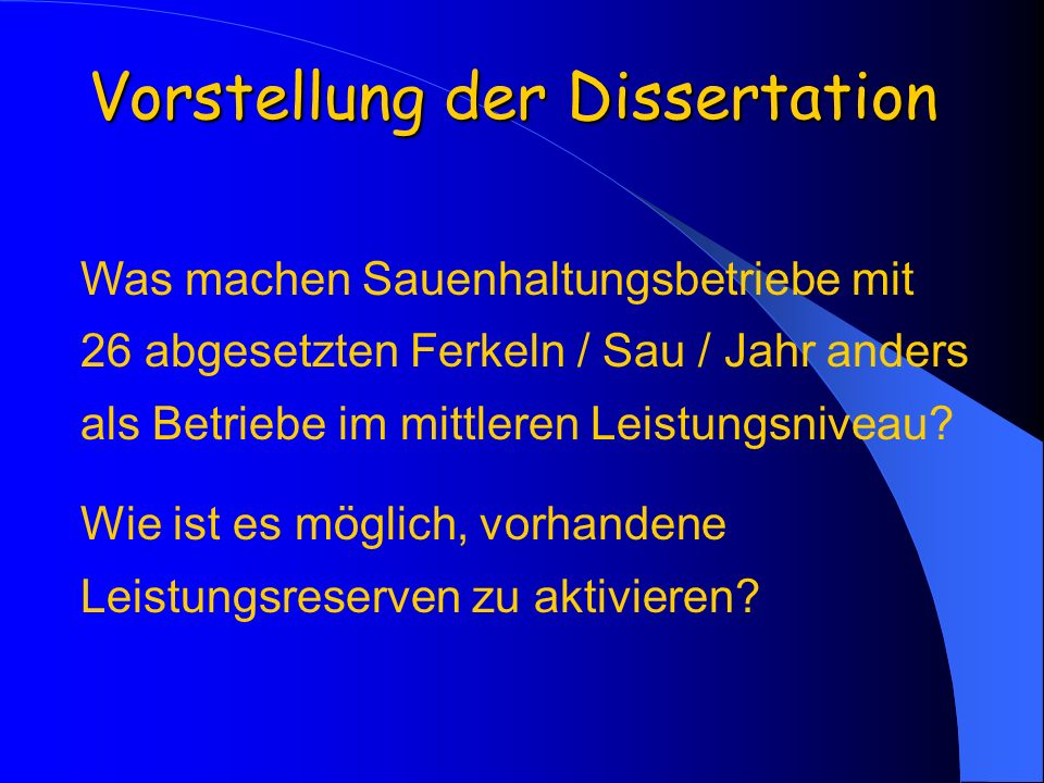 Vorstellung der Dissertation
