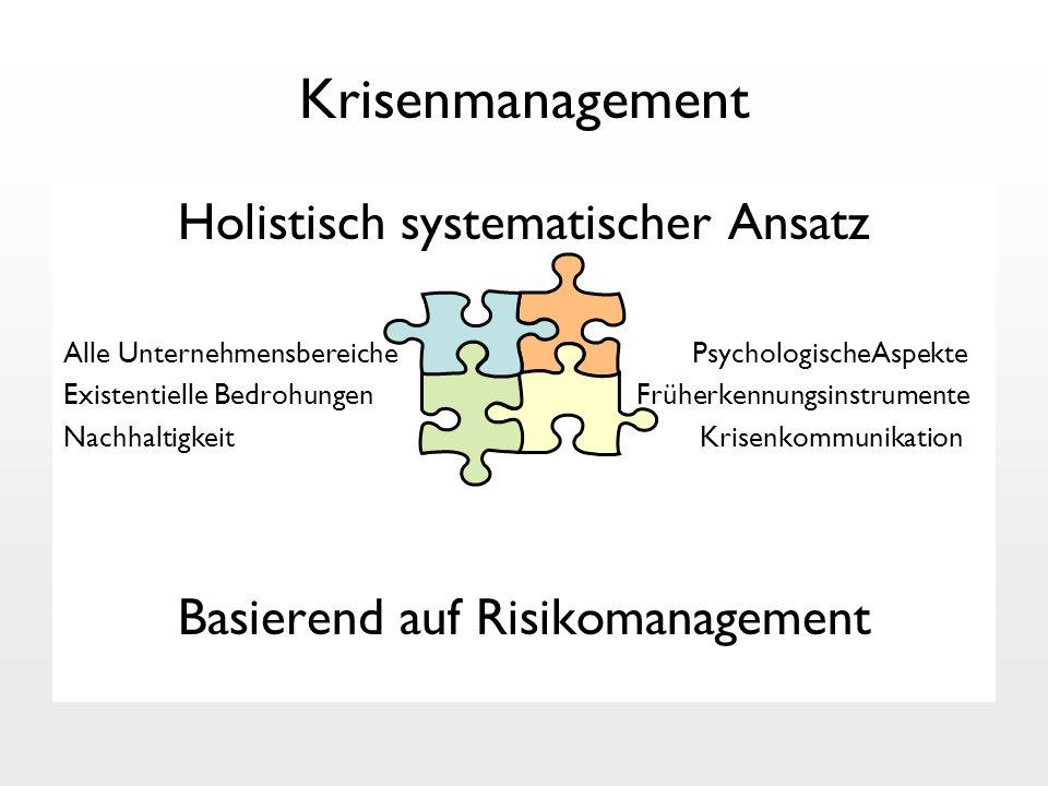 Krisenmanagement Holistisch systematischer Ansatz