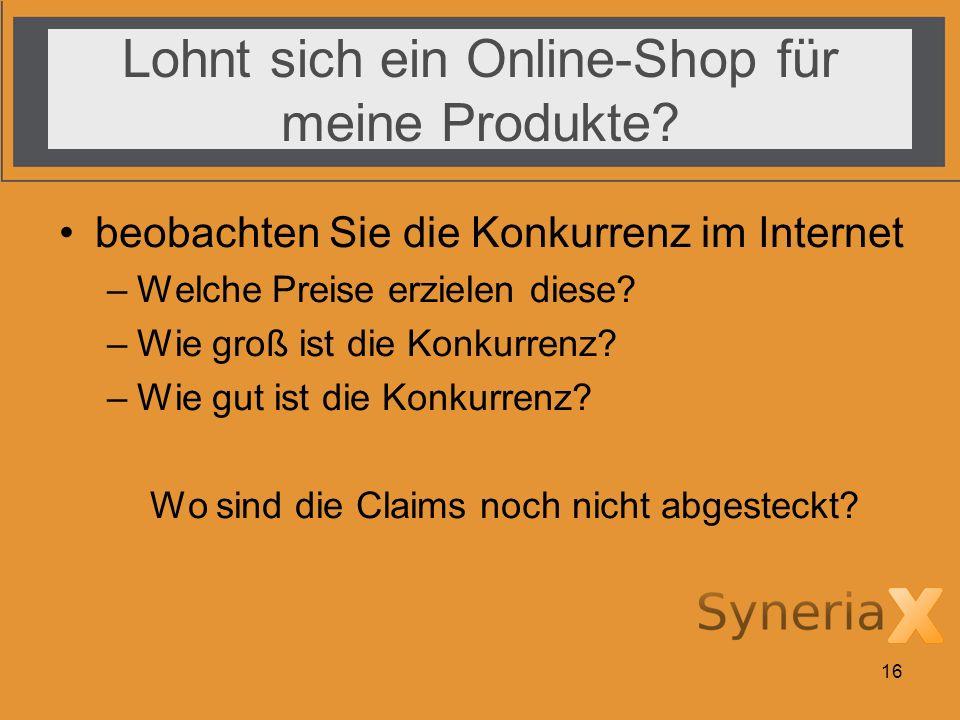 Lohnt sich ein Online-Shop für meine Produkte