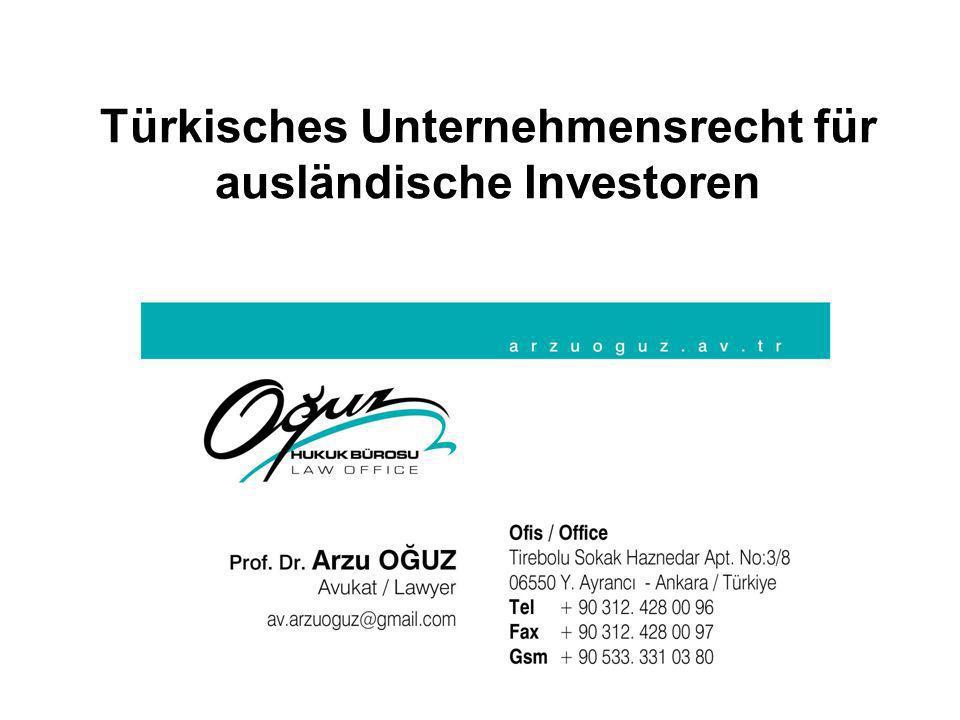 Türkisches Unternehmensrecht für ausländische Investoren