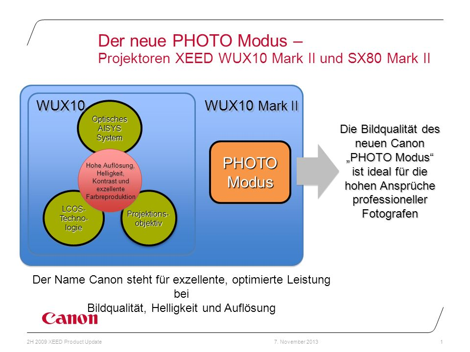 Der neue PHOTO Modus – Projektoren XEED WUX10 Mark II und SX80 Mark II