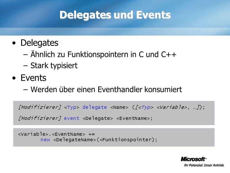 Delegates und Events Delegates Events