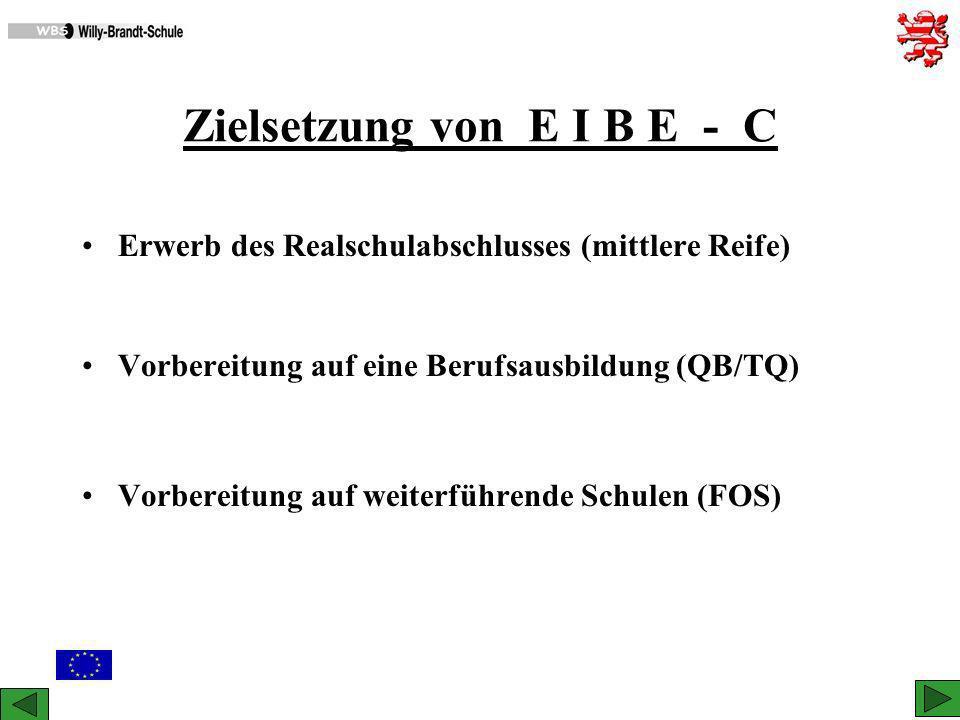 Zielsetzung von E I B E - C