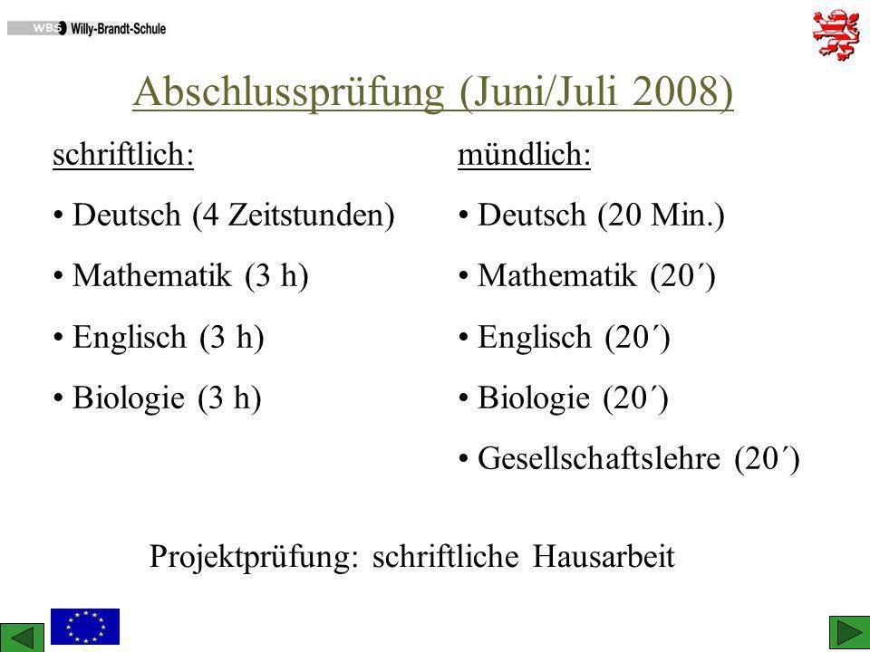 Abschlussprüfung (Juni/Juli 2008)