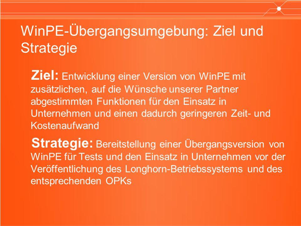 WinPE-Übergangsumgebung: Ziel und Strategie
