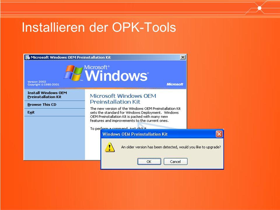 Installieren der OPK-Tools