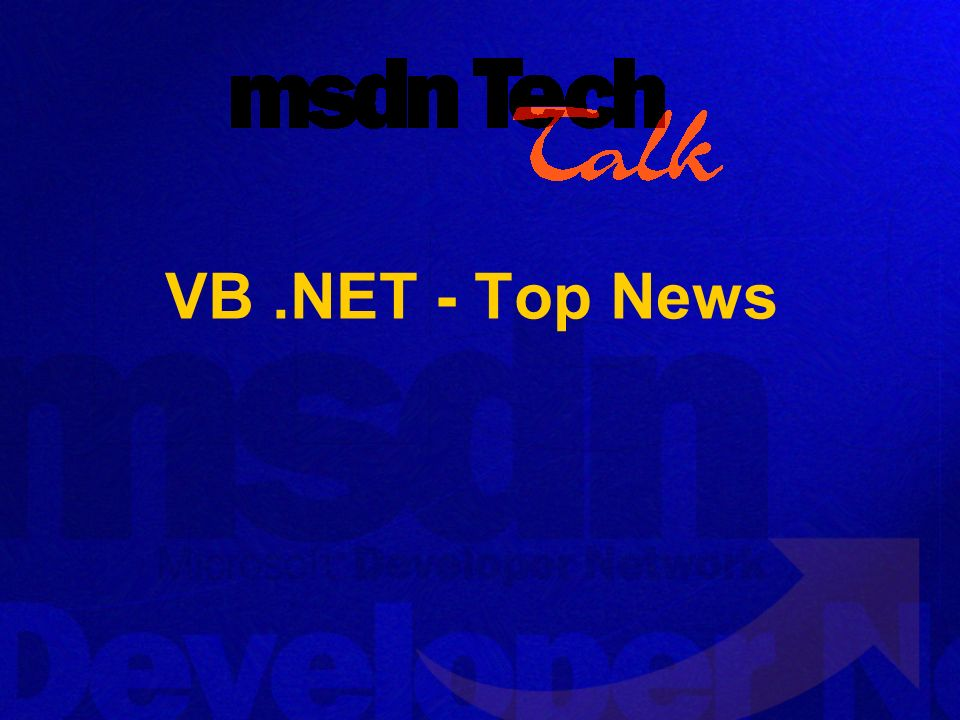 VB .NET - Top News
