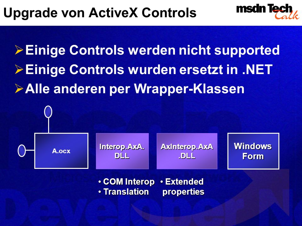 Upgrade von ActiveX Controls