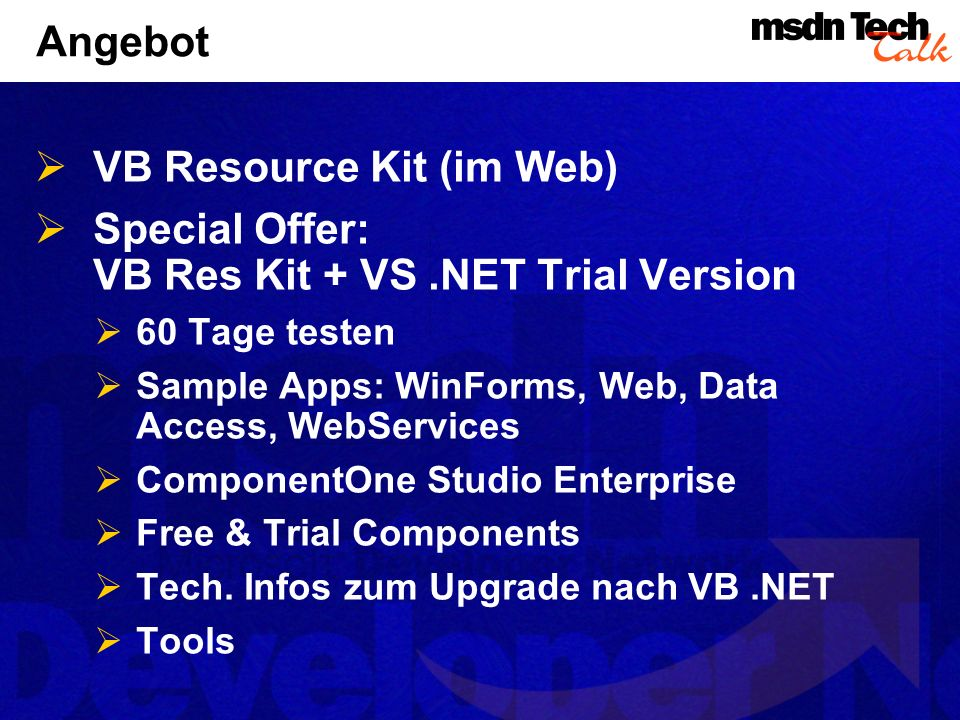 VB Resource Kit (im Web)