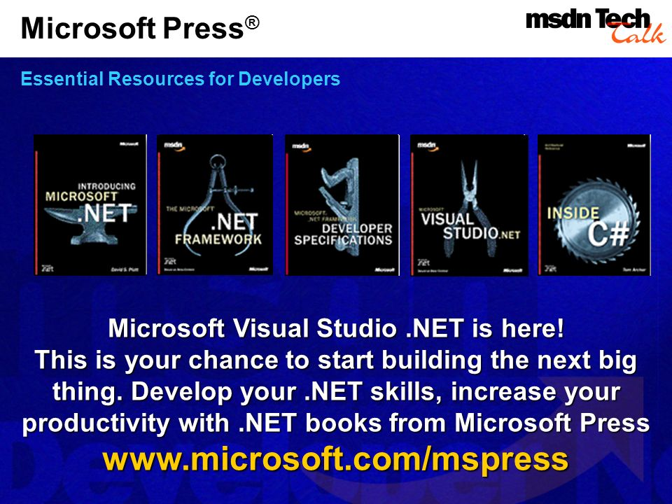 Microsoft Press® Essential Resources for Developers