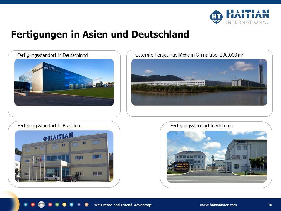 Fertigungen in Asien und Deutschland