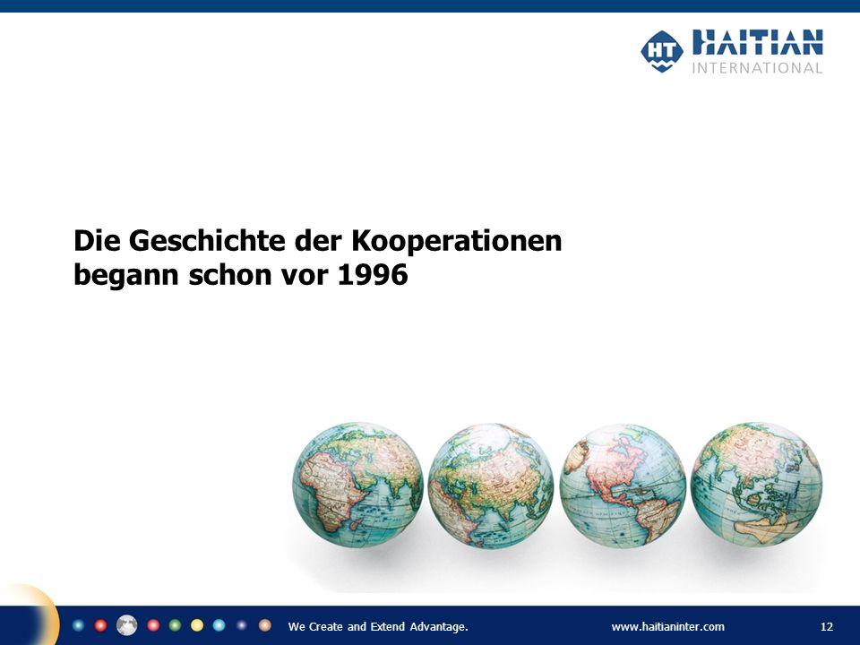 Die Geschichte der Kooperationen begann schon vor 1996