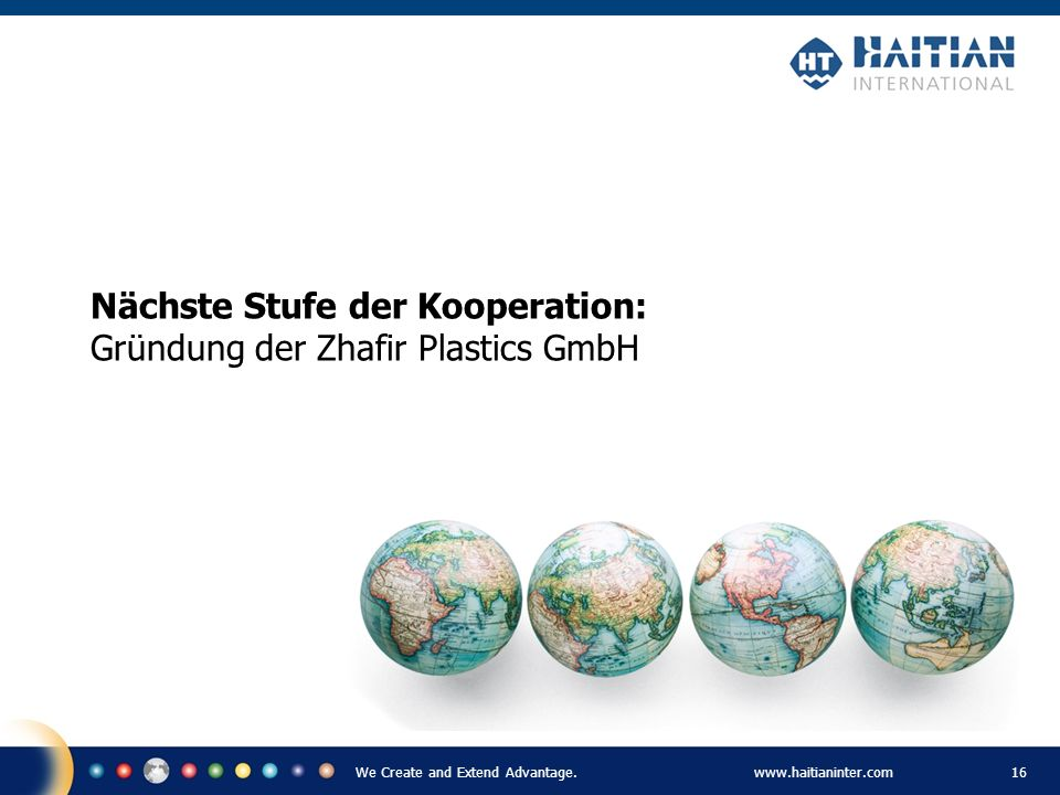 Nächste Stufe der Kooperation: Gründung der Zhafir Plastics GmbH