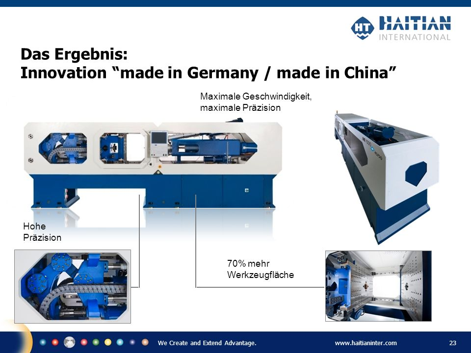 Das Ergebnis: Innovation made in Germany / made in China