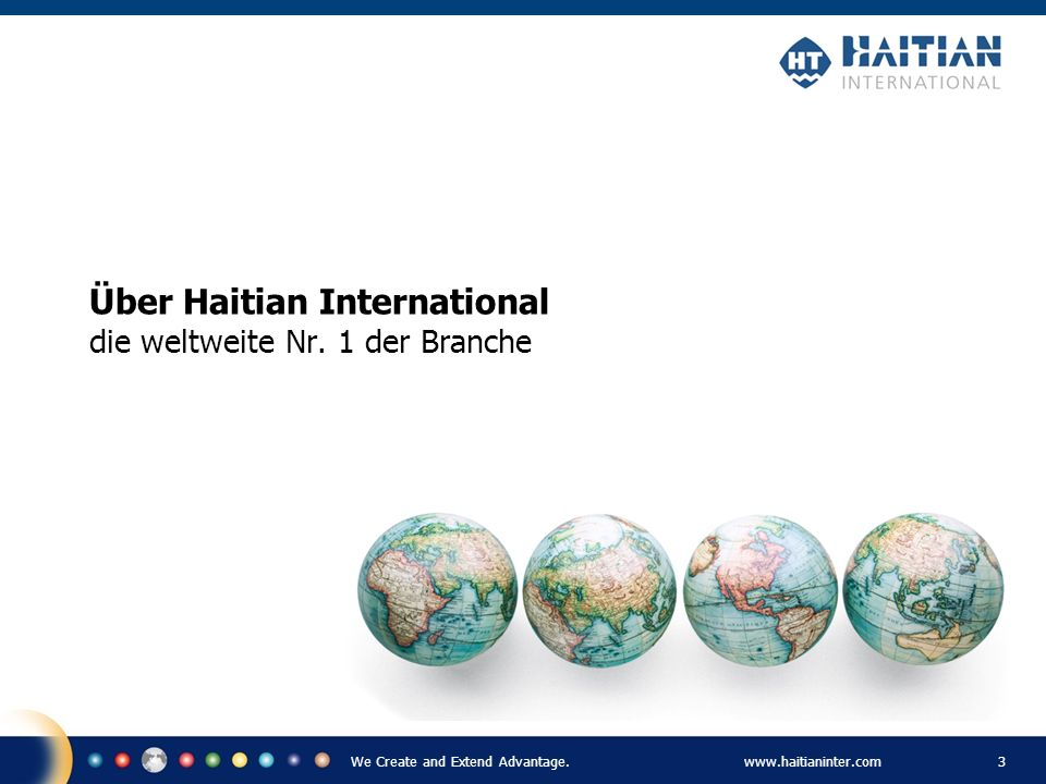Über Haitian International die weltweite Nr. 1 der Branche