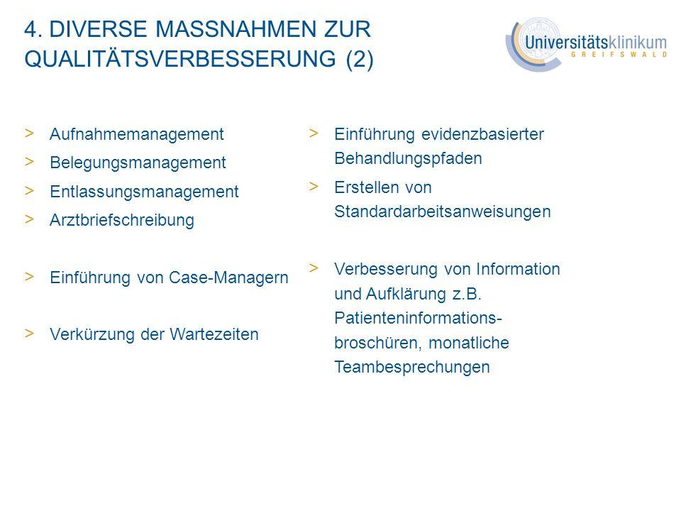 4. DIVERSE MASSNAHMEN ZUR QUALITÄTSVERBESSERUNG (2)