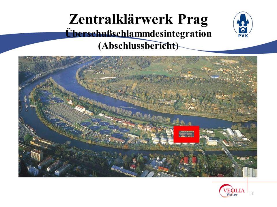 Zentralklärwerk Prag Überschußschlammdesintegration (Abschlussbericht)