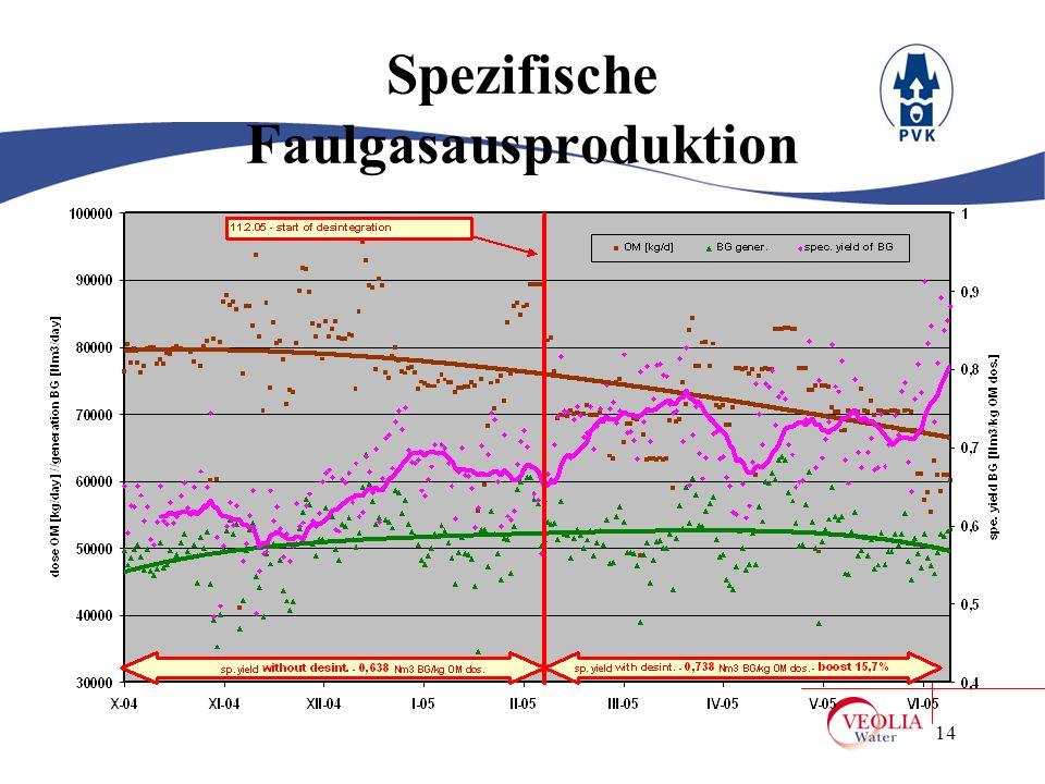 Spezifische Faulgasausproduktion