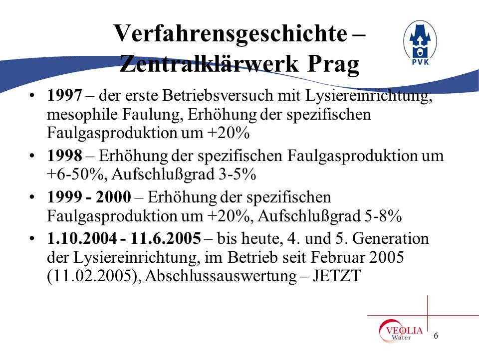 Verfahrensgeschichte – Zentralklärwerk Prag