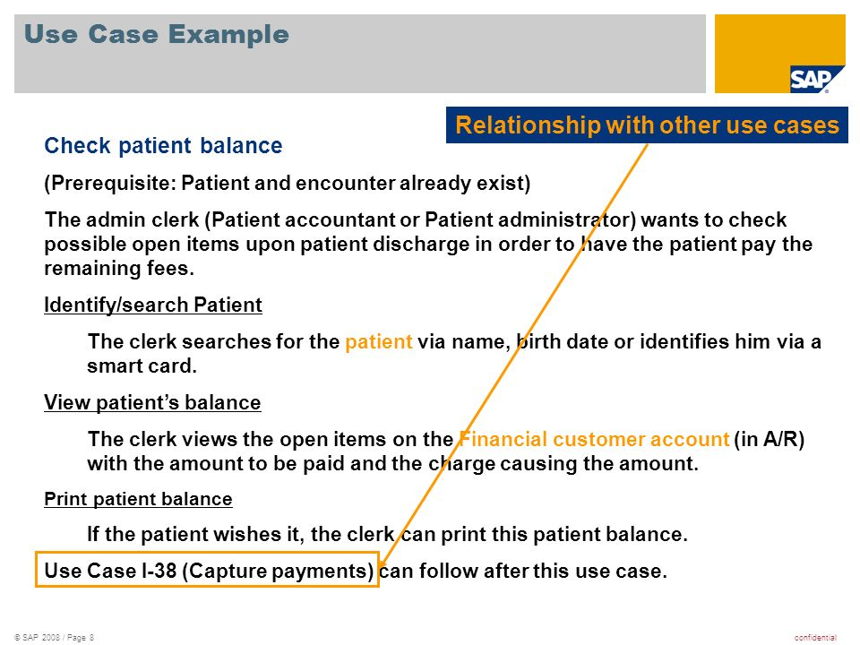 Use Case Example Relationship with other use cases