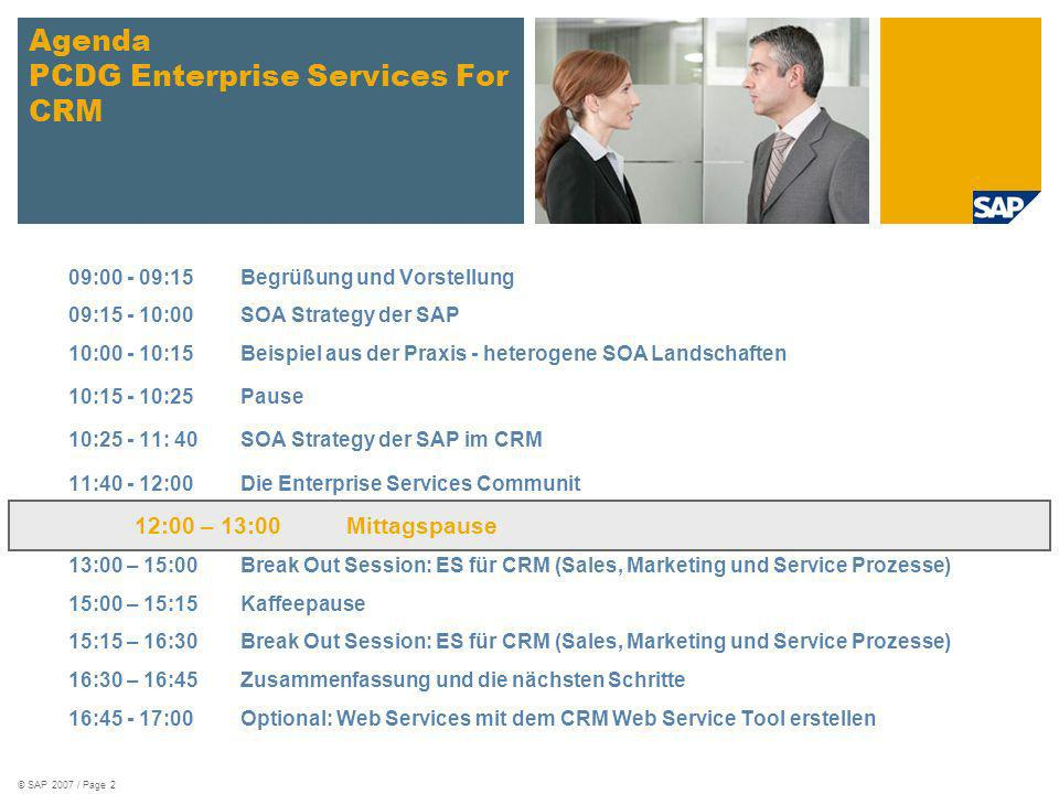 Agenda PCDG Enterprise Services For CRM