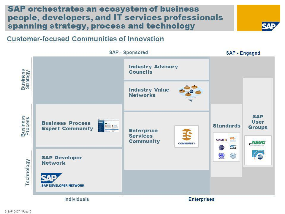 SAP orchestrates an ecosystem of business people, developers, and IT services professionals spanning strategy, process and technology