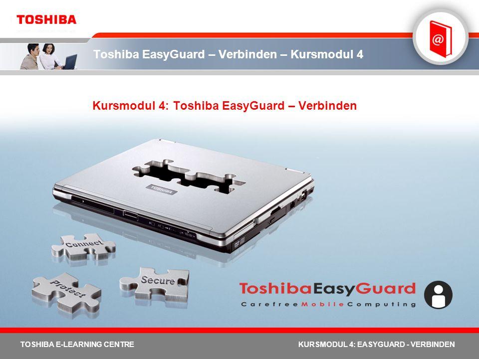 Toshiba EasyGuard – Verbinden – Kursmodul 4