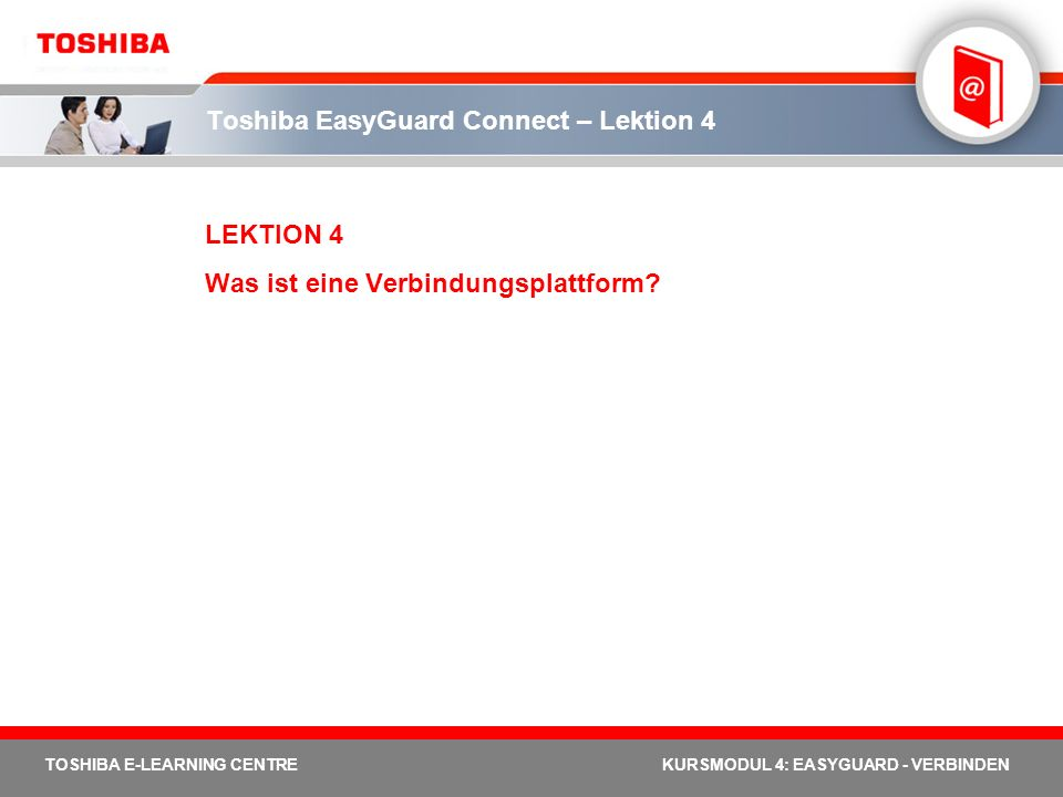 Toshiba EasyGuard Connect – Lektion 4