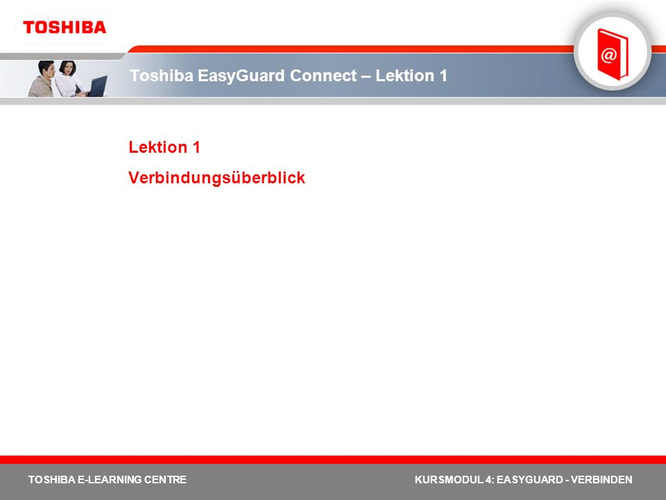 Toshiba EasyGuard Connect – Lektion 1