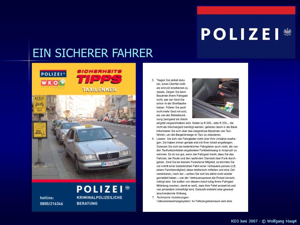 EIN SICHERER FAHRER KD3 Juni 2007 - © Wolfgang Haupt