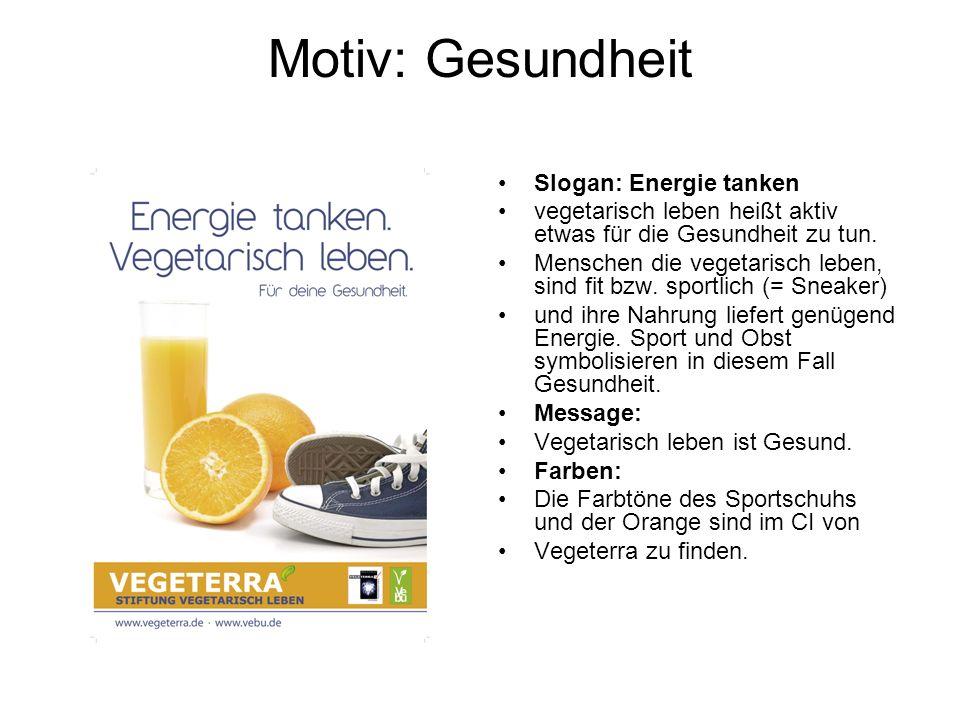 Motiv: Gesundheit Slogan: Energie tanken