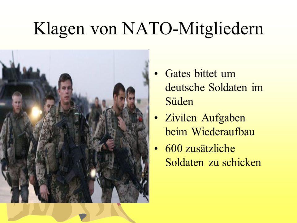 Klagen von NATO-Mitgliedern