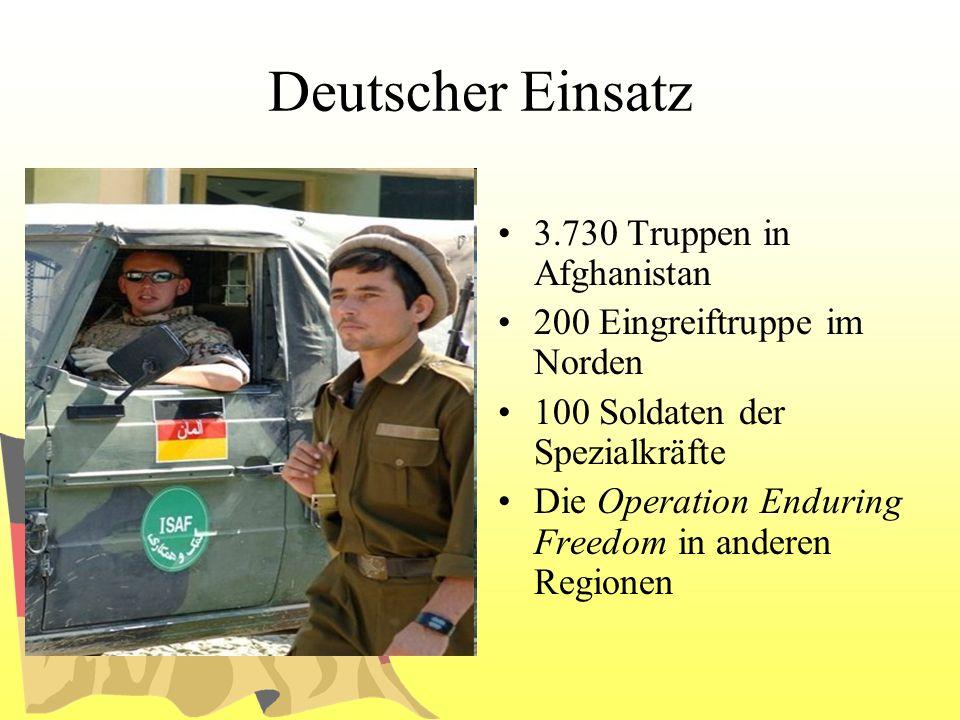 Deutscher Einsatz 3.730 Truppen in Afghanistan