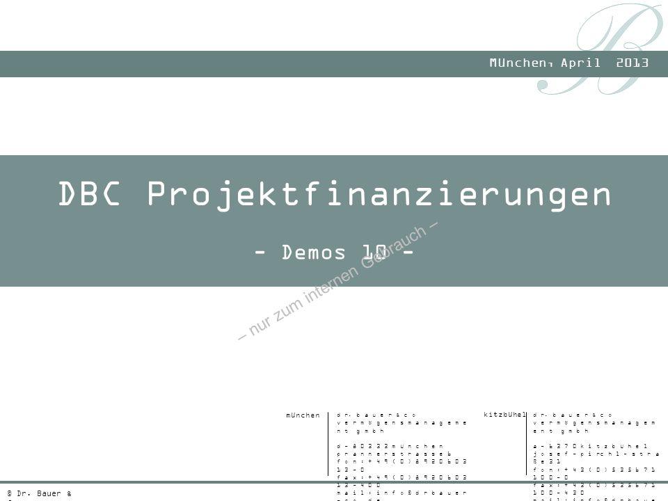 DBC Projektfinanzierungen