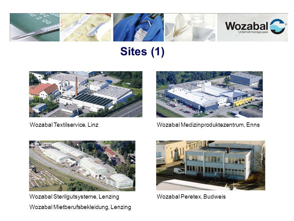 Sites (1) Wozabal Textilservice, Linz