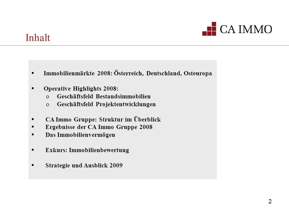 Inhalt Immobilienmärkte 2008: Österreich, Deutschland, Osteuropa