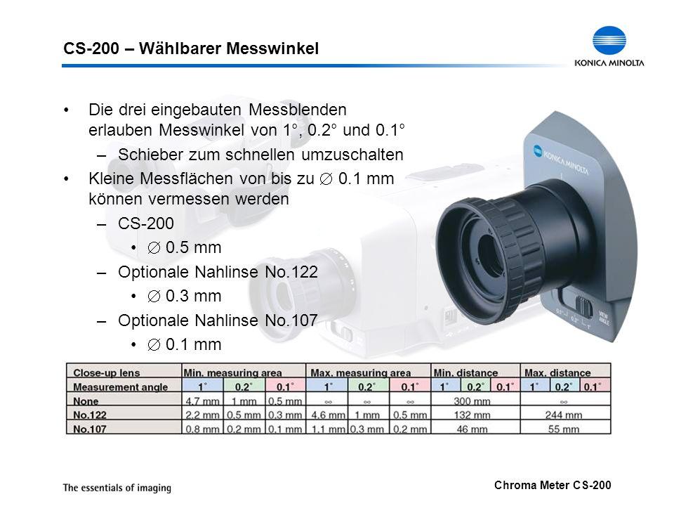 CS-200 – Wählbarer Messwinkel