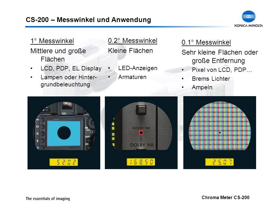 CS-200 – Messwinkel und Anwendung
