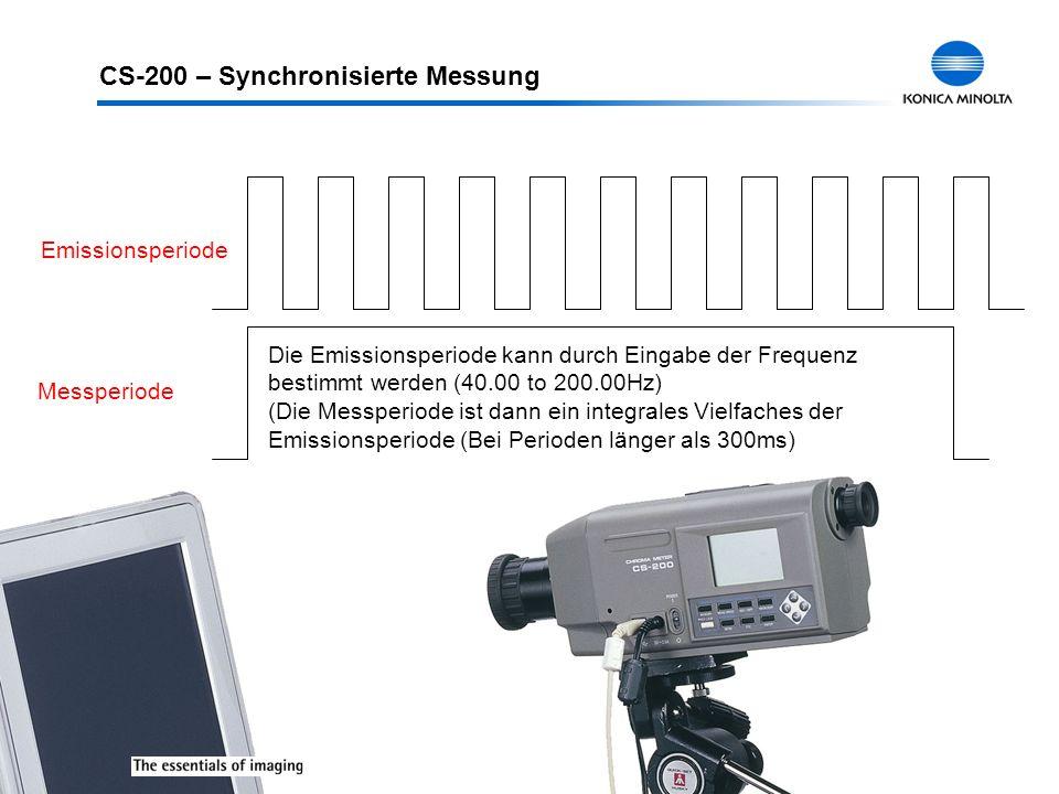CS-200 – Synchronisierte Messung