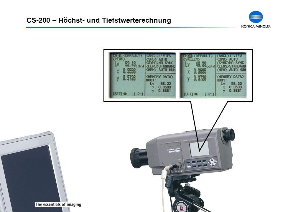 CS-200 – Höchst- und Tiefstwerterechnung