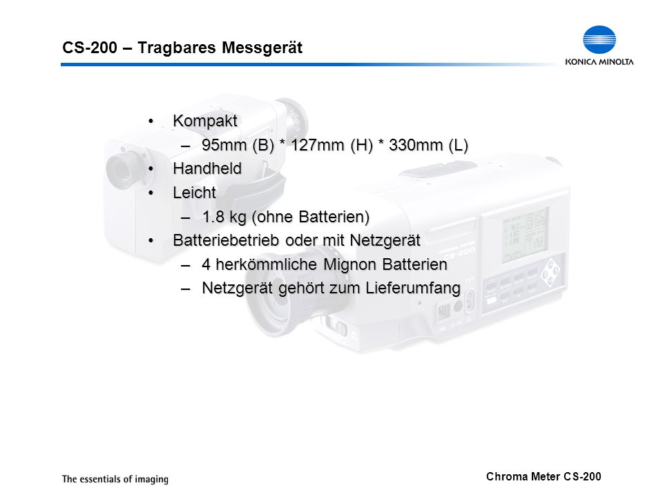 CS-200 – Tragbares Messgerät