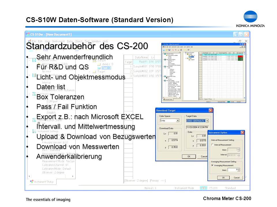 CS-S10W Daten-Software (Standard Version)