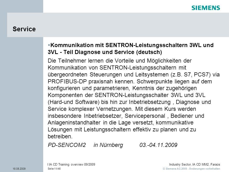 Service Kommunikation mit SENTRON-Leistungsschaltern 3WL und 3VL - Teil Diagnose und Service (deutsch)