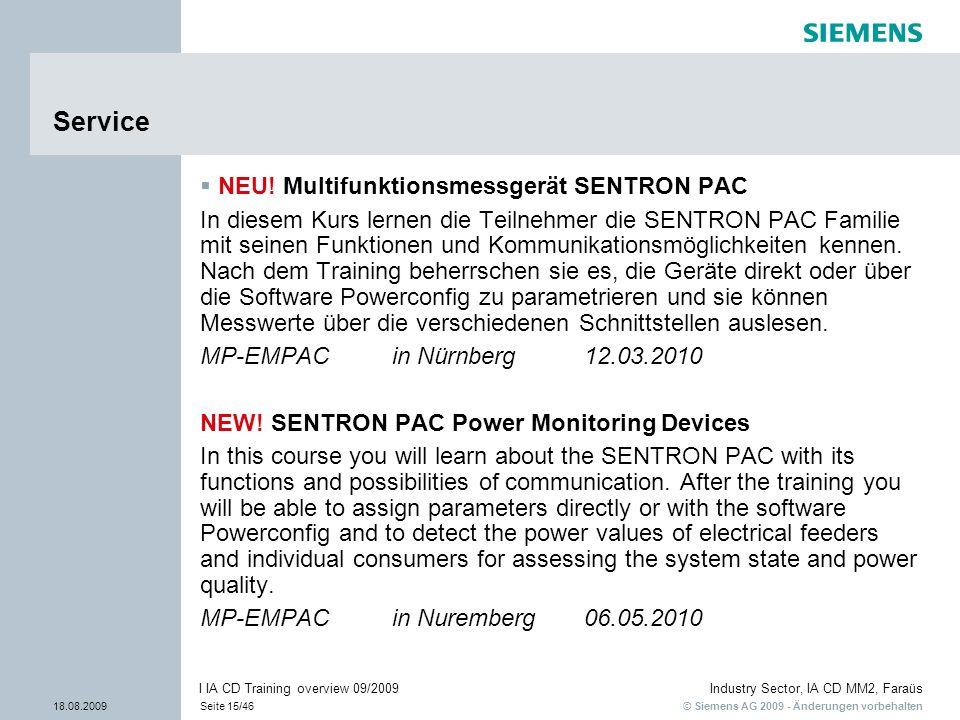 Service NEU! Multifunktionsmessgerät SENTRON PAC